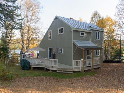 Photo for Private, wooded setting, large dock with 360'frontage on Dodge Pond