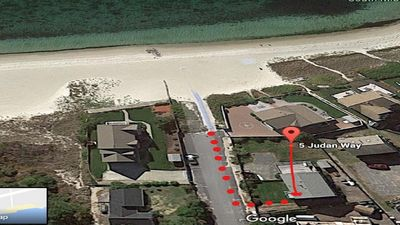 AERIAL VIEW FROM HOUSE TO BEACH