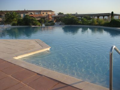 Photo for Beautiful penthouse, 2 bedrooms, golf view and vineyards, 2 large terraces, quiet