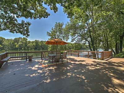 Photo for Riverfront Cotter House w/Spacious Deck & Hot Tub!
