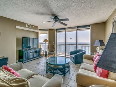 Photo for Crescent Shores 1503, 4 Bedroom Beachfront Condo, Hot Tub and Free Wi-Fi!
