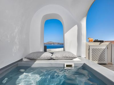 Photo for Amaya Sensational Villa | Caldera View-Outdoor Hot Tub