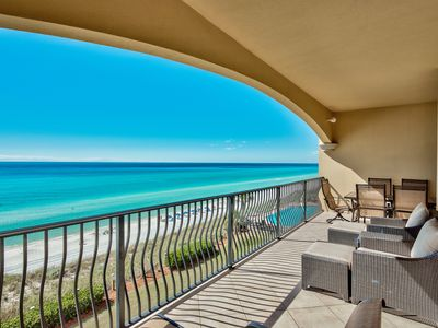 Photo for Adagio gulf front 4-bedroom condo freshly updated, five star, pools, gym!