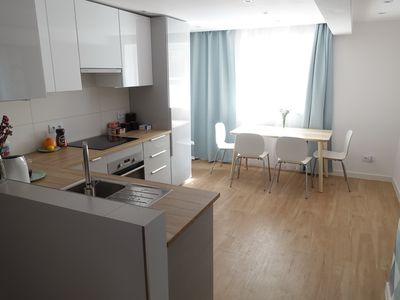 Photo for New apartment with three bedrooms and parking close to city center