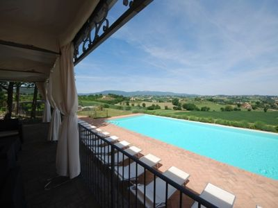 Photo for Spoleto By The Pool, apt.6 - marvellous view, only 0,7 miles from the old tow