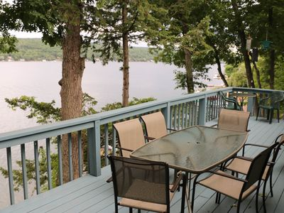 Dog-friendly lakefront house w/ furnished deck & private dock