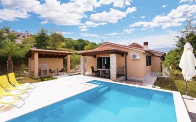 Photo for Panoramic holiday house with pool