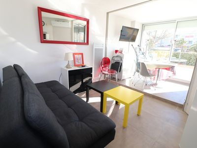 Photo for 2 rooms Cabin Ground floor Large terrace - air conditioning - parking GRAU DU ROI