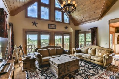 Enjoy the spacious great room as you take in the nature around you.