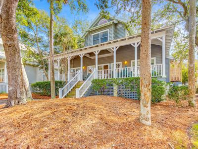 Photo for Dog-friendly home across the street from beach with WiFi and community pool!