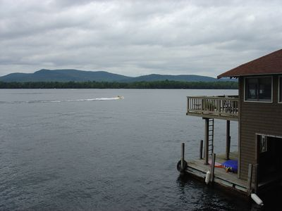 view from boathouse deck