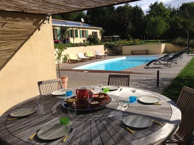 Photo for Villa 4 *, private heated pool, spa, WIFI, children's play park, 8 people