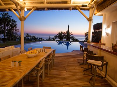 Photo for 7 bed luxury villa optional staff  with sea views in Marbella