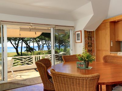 Photo for Exclusive Beachfront Cottage, Private, Ocean Views, AC, WiFi, Whale Watching!