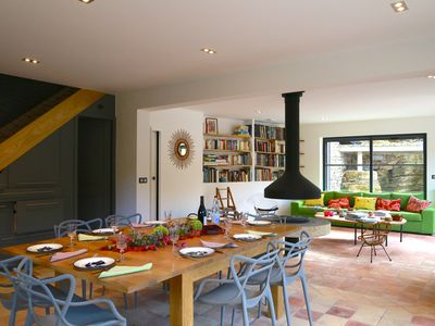 Photo for Ecological house-Central fireplace-Pool bio-Wonderful garden-South Ardèche