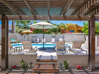 Photo for Elegant 4BR Eden w/ Casita - Private Pool, Gas Fire Pit & Outdoor Dining