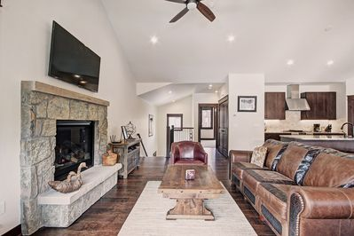 Living Room - Gas fireplace.