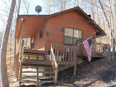 Photo for Special* Secluded Romantic Cabin in the Woods /w Relaxing Hot Tub! Gatlinburg/PF