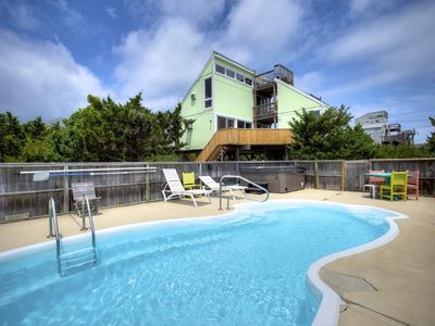 Photo for License to Chill! 3 Bedroom Semi-Oceanfront with Pool and Hot Tub