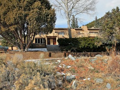 Photo for Peaceful Taos Mountain retreat 1/2 way between Taos and Taos Ski Valley