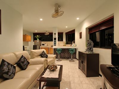 Photo for Ganesha 2 bedroom apartment with sea view / pool bar * + * kitchen with patio terrace
