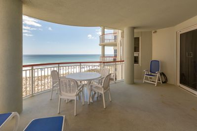 large balcony with amazing views of gulf