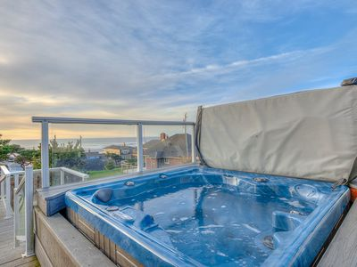Photo for Spacious & Large Roads End 5-bedroom with Ocean-View Hot Tub & Game Room