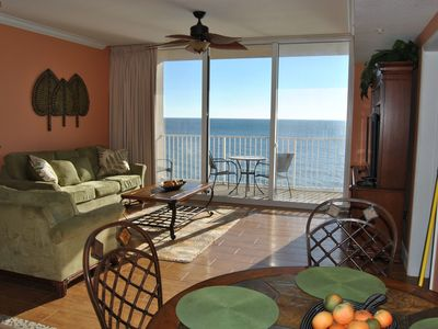 "Comfortable Furniture-New plank tile floors,a million dollar gulf view New 52""TV"