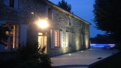 Photo for Perfect Family Holiday Retreat, on Dordogne River, Flaujagues, near St Emilion