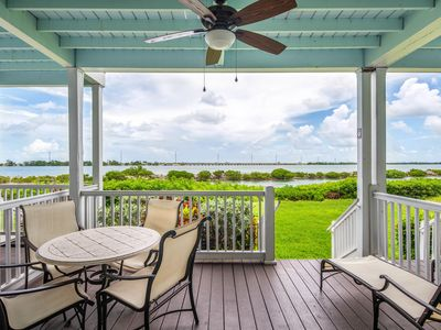 Photo for Two-story waterfront condo w/ patio, balconies & boating