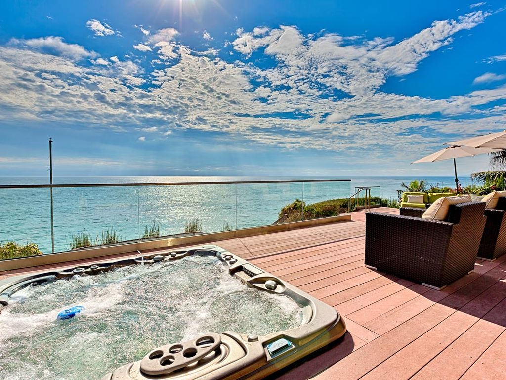 Oceanview Villa With Private Beach Hot Tub Wine Cooler Fireplace