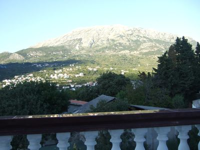 The view from the lower terrace on the mountain