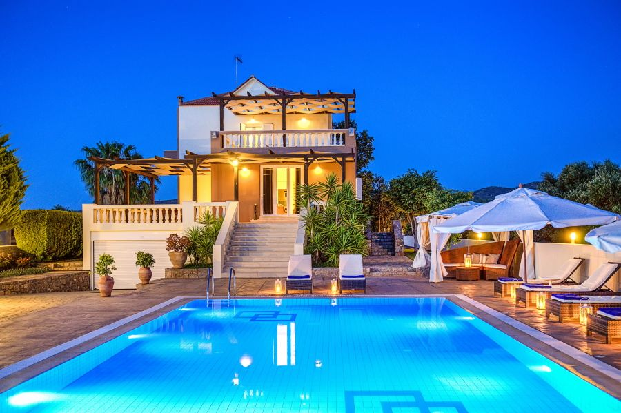 Luxury villa with stunning views spinalonga island and - Villa de vacances exotiques island views ...