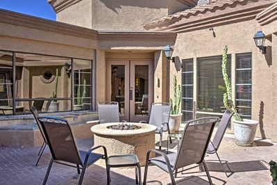 Retreat to your own desert oasis at this 2-bedroom, 1-bathroom  vacation rental townhome in Scottsdale!