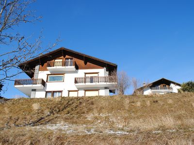 Photo for Apartment 55 m2, 1 BR/1BR, with panoramic view on the Swiss Alps