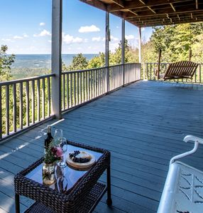 Your front deck offers so many beautiful views and peaceful places to relax