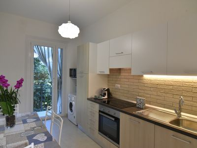 Photo for Apartment in a panoramic area a few steps from the sea and surrounded by greenery