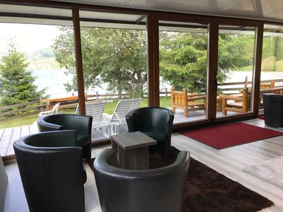 Photo for Traditional Fisherman's house Colibita, lakefront with view and pontoon