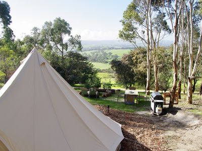 Photo for Glamping Tent for couples who love nature. Tent in a forest with  a view.
