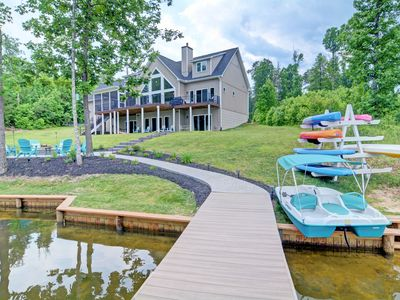 Photo for 5 MASTER BEDROOMS: ALL WATER VIEWS- TWO FULL KITCHENS, PRIVATE BEACH & Firepit