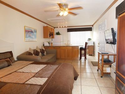 Spacious clean studio with all you need to feel at home. Gated community, parkin