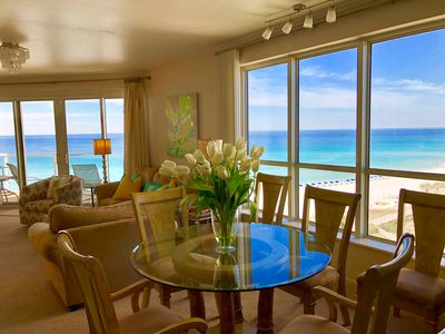 Photo for Luxurious Direct Beach Front 1900 sq ft Condo ......Beach Chair Setup Included