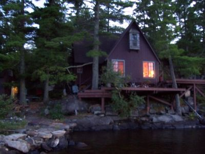 Wonderful family cabin with Baby Island, decks, docks and beach