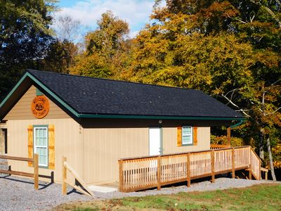 Photo for Brand new cabin on a roaring creek in Maggie Valley