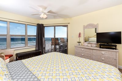 Master Bedroom - After awakening from your king sized bed, walk out onto your private balcony and watch the sunrise