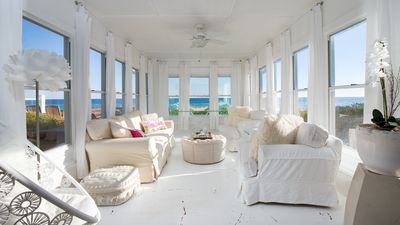 Photo for June & July Open! Directly On The Gulf! Deck Space For Sunbathing! Sunroom!