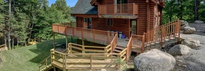 Photo for BLUE JAY WATERFRONT COTTAGE- Property is 10 minutes to Ski Mont Blanc