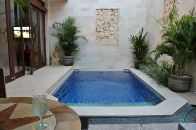 Entry into our villa boasting a cool inviting Private plunge pool