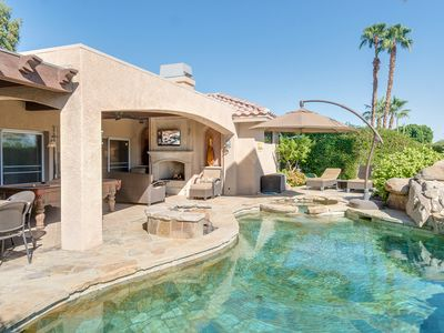 Photo for Luxe 3BR – Stunning Outdoor Living Area w/ Kitchen, Custom Pool, Fire Pit