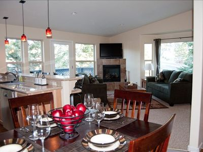 Our open concept Living/Dining/Kitchen gives you lots of space to gather.